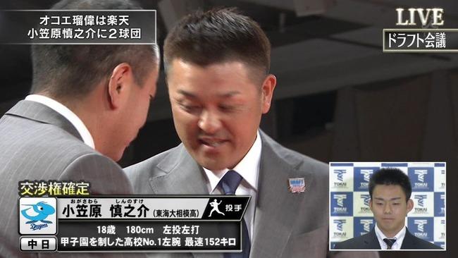 【ドラフト1位】中日小笠原、爆誕
