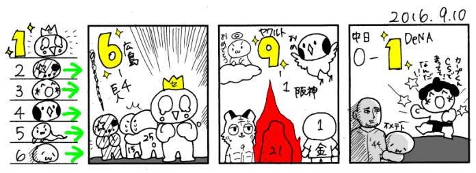 9/10 広===============巨==-/==横===-ヤ===-阪=中