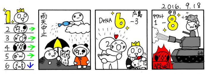 9/18 広================巨==|=-De=====ヤ==-中-神