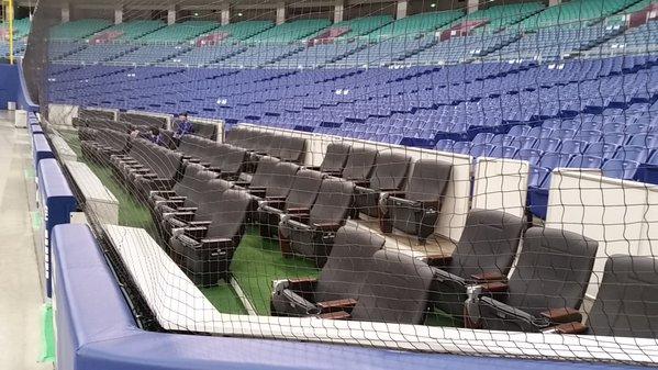 ナゴヤドームのフィールドシート完成wwwwwwwwwww