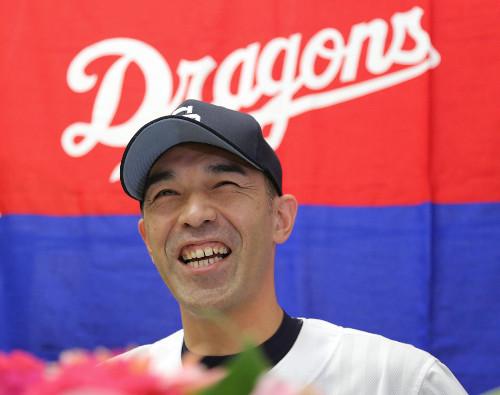 中日・和田一浩引退会見 「夢のような時間だった」