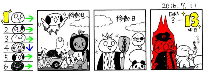 7/11 広-------------------/-巨---中--横---ヤ---阪